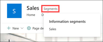 Image of SharePoint information barriers applied to this site