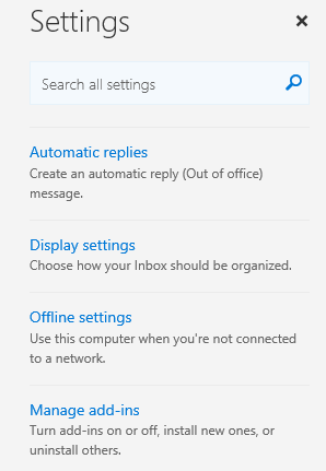 Choose Manage add-ins from the Settings menu