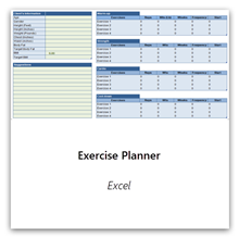 Select this to get the Exercise Planner
