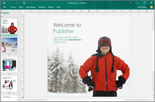 Use Publisher to create professional newsletters, brochures, and other publications