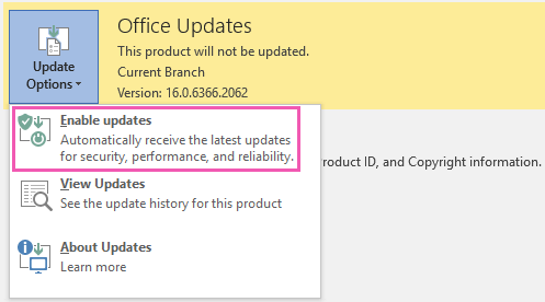 how to install office 2016 updates