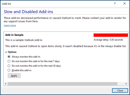 Disable Outlook add-ins_C3_2017912141729