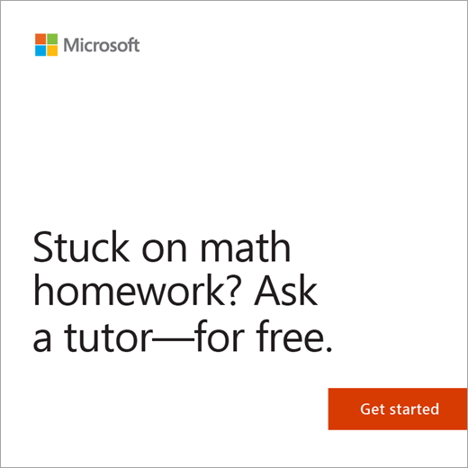 Get free math tutoring
