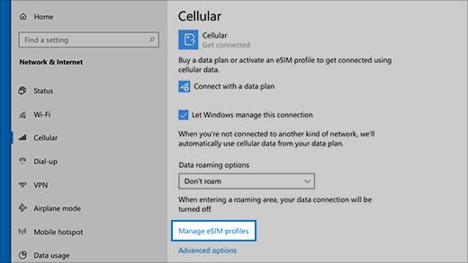 Manage eSIM profiles