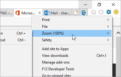 A screenshot of the Tools menu in Internet Explorer