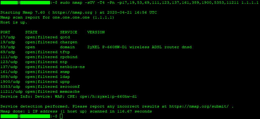 Linux nmap scan
