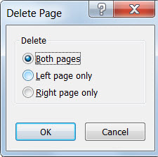 Remove pages from your publication with the Delete Page dialog.