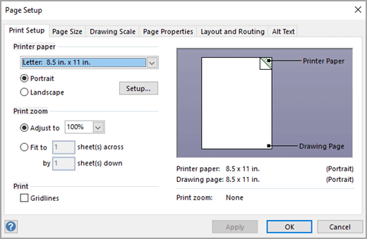 Change the page orientation to portrait or landscape in Visio ...