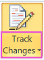 Track Changes button with down-arrow highlighted