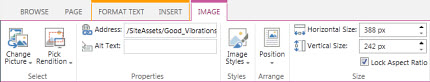 Image editing options