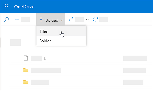 Upload and save files and folders to OneDrive - OneDrive