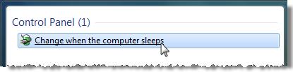 Change when the computer sleeps