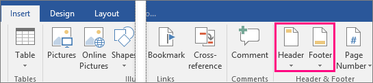 how to add page number and header in word 2010