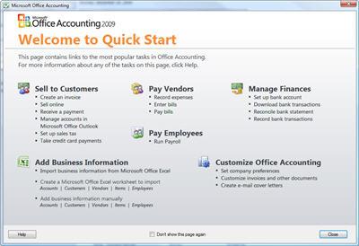 accounting 2009 quick start