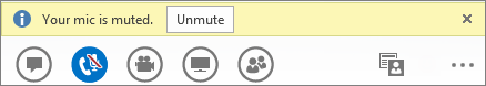 Unmute button in Lync