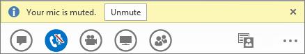 Unmute button in Lync