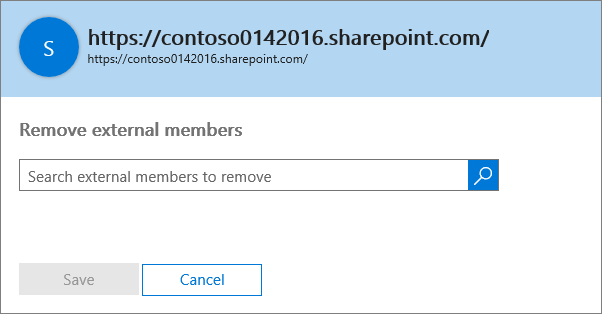 Dialog box to remove external members from a site collection