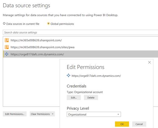 Manage settings for data using Power BI Desktop.