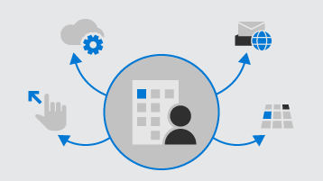 Illustration represents setting up a business with Microsoft 365.