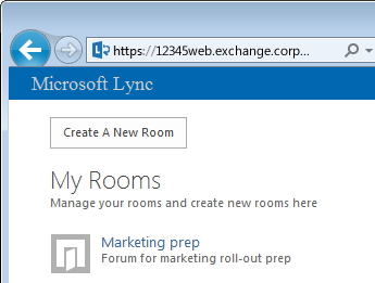 Create and manage a Lync chat room - Lync