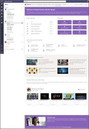 Example class dashboard site