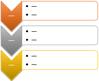 Vertical Chevron List SmartArt graphic layout