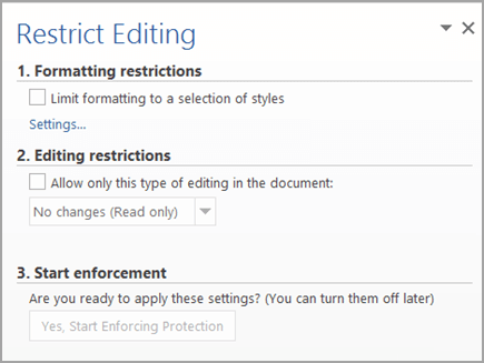 ms word locked for editing