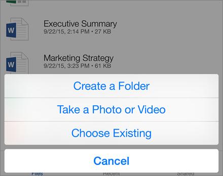 Add folder or files