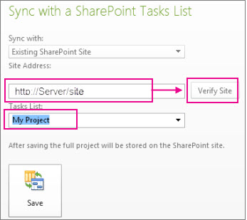 Save project to SharePoint
