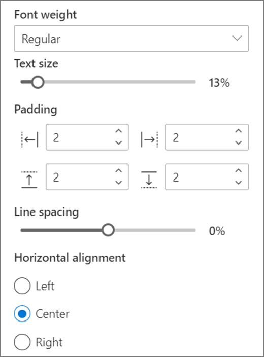 Text format choices