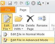 You can start to customize a task by using the Edit button on the ribbon