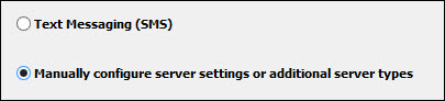 Outlook 2010 manually configure server settings