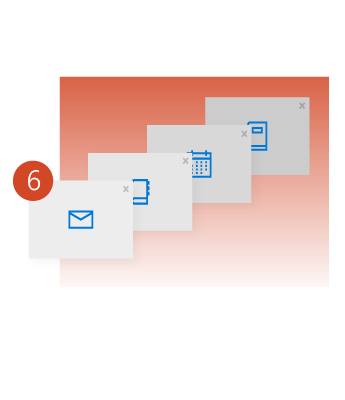 Create multiple folders to store your email messages.
