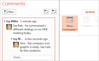 The new Comments pane
