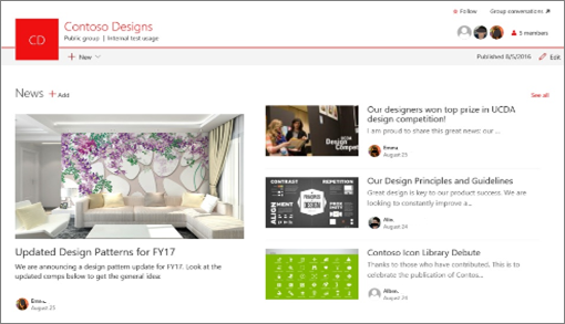 Create and share news on your SharePoint sites - Office Support