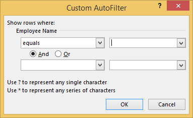 CustomAutofilter