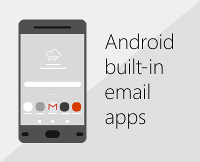 Click to set up one of the built-in Android email apps