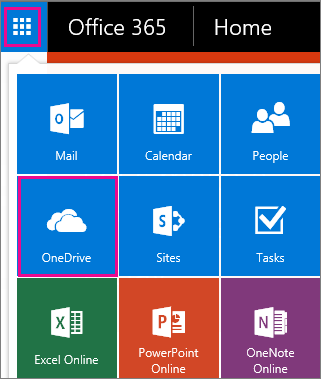 How to open OneDrive for business.