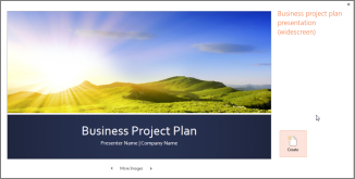 use a template to create a presentation quickly - powerpoint, Presentation templates