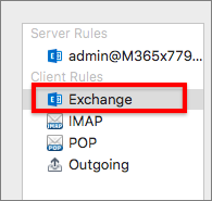 Exchange Client Rules