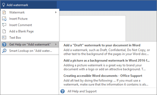 Type your desired task into Word's Tell Me box and Tell Me will help you do the task