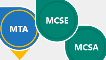 Microsoft Learning certifications: MTA, MCSE, MCSA