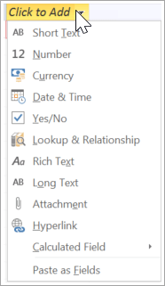 "Add a new table column, type ""Lookup and Relationship"""