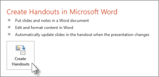 Create handouts in Word