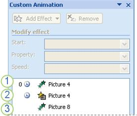 animation effects in task pane