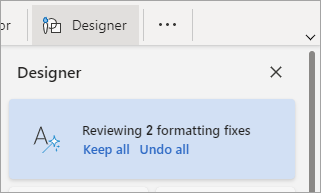 Reviewing formatting fixes