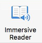 Immersive reader button
