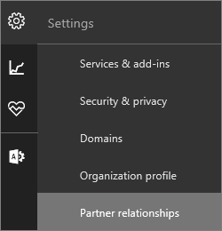 "Screenshot of the settings menu with ""Partner relationships"" highlighted"