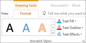 WordArt Styles group