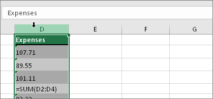if you dont want to convert the whole column you can select one or more cells instead just be sure the cells you select are in